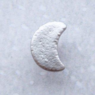 ボタン 銀色の月
