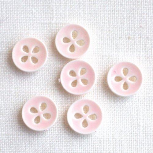 ボタン 四つ葉ピンク