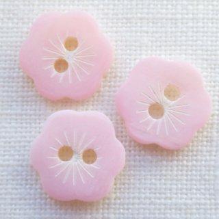 ピンクのお花貝ボタン