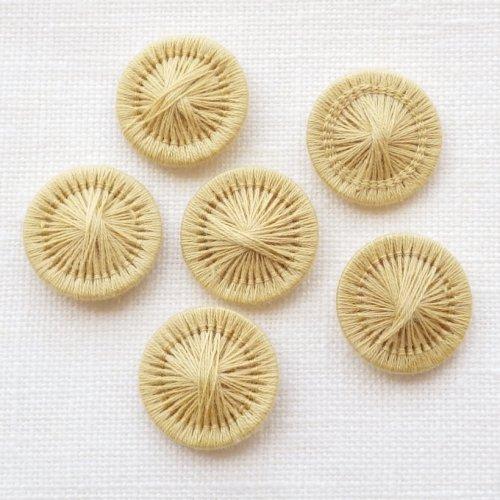 チェコの糸ボタン 黄土色