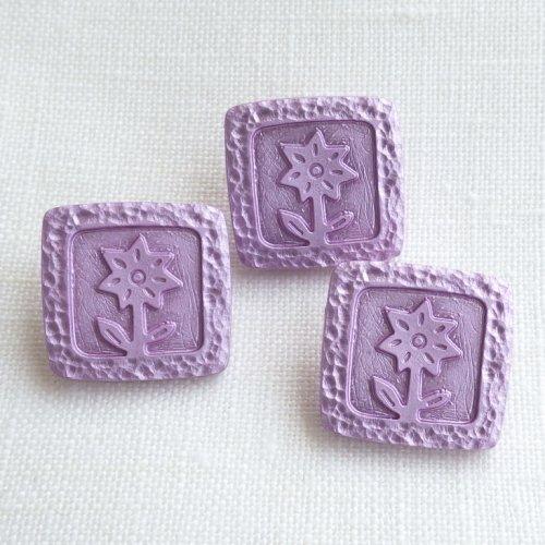 ボタン エーデルワイス(薄紫)
