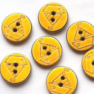 ボタン ヨット 黄色×ネイビー