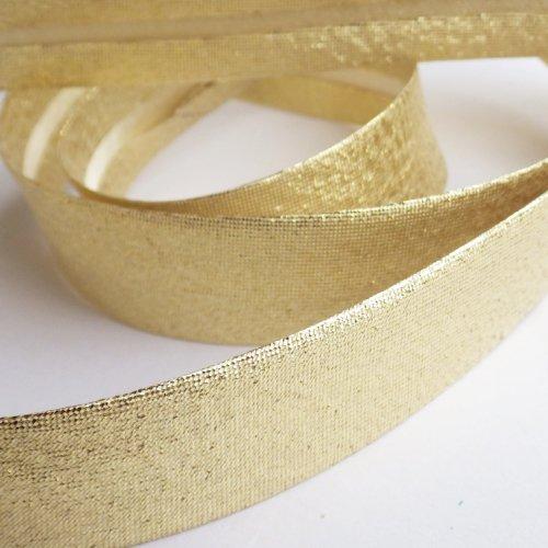 バイアステープ 金色のラメ