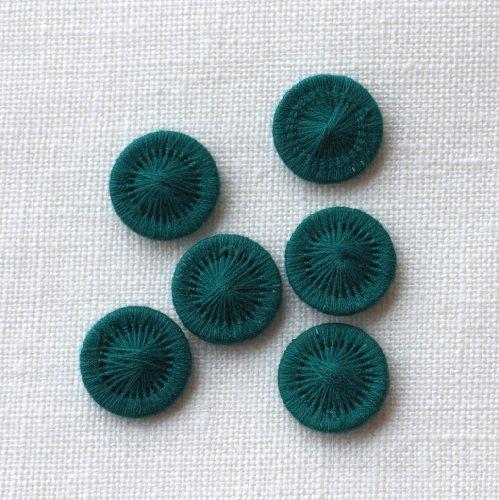 チェコの糸ボタン13mm フォレストグリーン