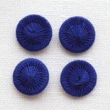チェコの糸ボタン13mm 濃紺