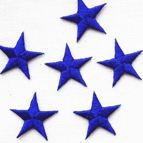 アップリケ ネイビーの星