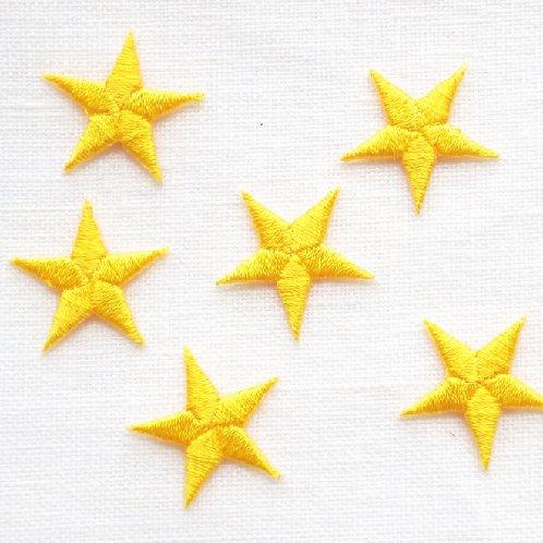 アップリケ 黄色の星