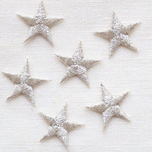 アップリケ シルバーの星