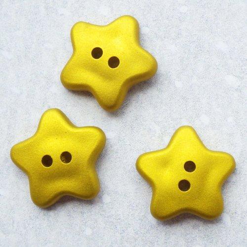 ボタン 金色の星