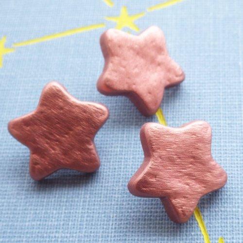 ボタン 銅色の星15mm