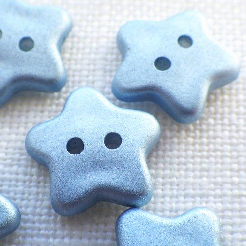 ボタン ブルーの星