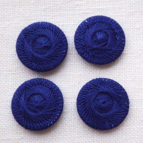チェコの糸ボタン18mm コシーク 濃紺
