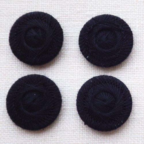 チェコの糸ボタン18mm コシーク 黒