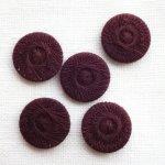 チェコの糸ボタン16mm コシーク チョコレート