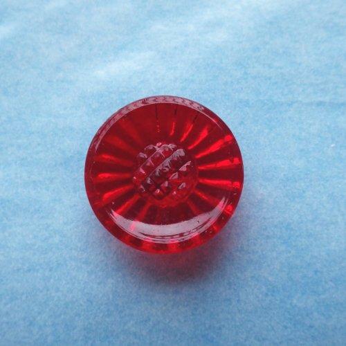 ビンテージガラスボタン デイジー