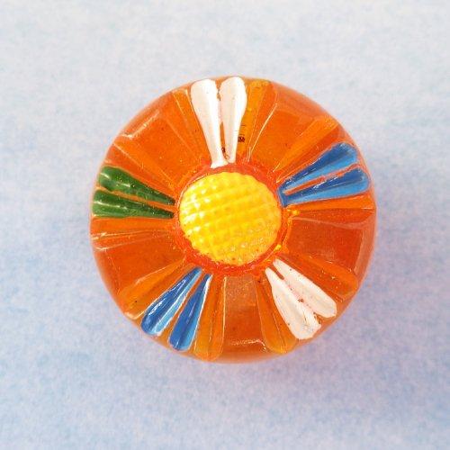 ビンテージガラスボタン マーガレット