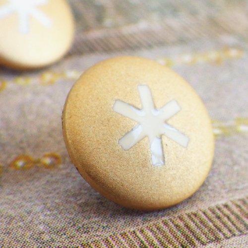 ボタン 金色スノーフレイク フランス製