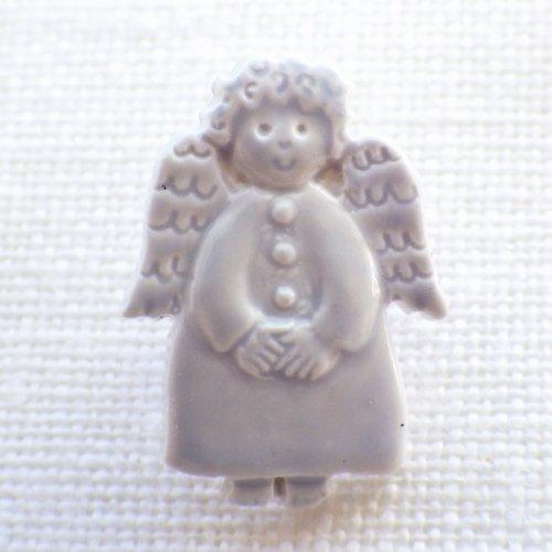 ボタン 天使(グレー)