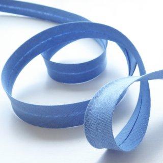 水色の綿麻バイアステープ 両折20mm