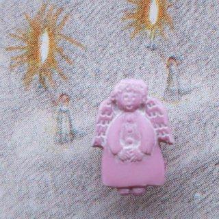 ボタン 天使(ピンク色)
