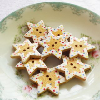 星形クッキーボタン