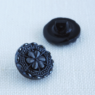 黒ガラスボタン