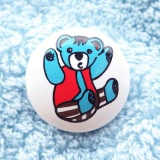 ボタン 青いクマちゃん