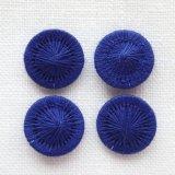 チェコの糸ボタン14mm 濃紺