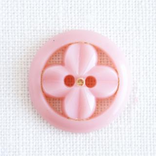 ヴィンテージボタン お花プロペラ22mm