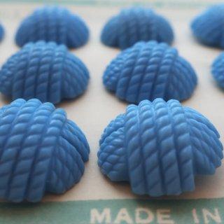 ヴィンテージボタン 毛糸玉ブルー