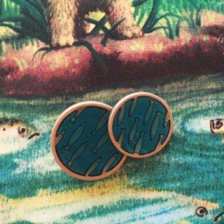 ボタン お魚ターコイズブルー15mm・18mm