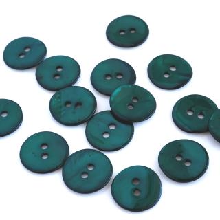 カラー貝ボタン12mm ターコイズグリーン