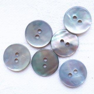 カラー貝ボタン12mm ブルーグレー