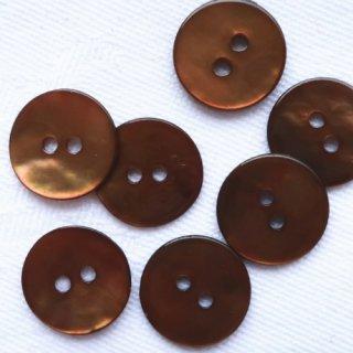 カラー貝ボタン12mm ブラウン