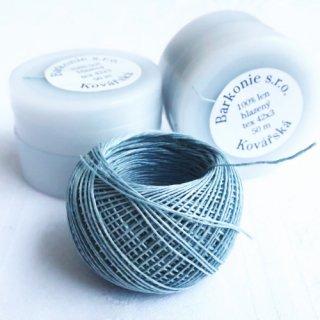チェコのリネン糸 ライトグレー