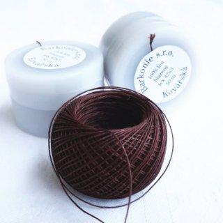 チェコのリネン糸 ダークブラウン