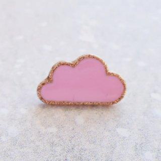 ボタン 雲(ピンク)