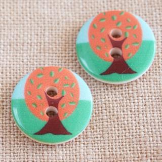 木のボタン 15mm フランス製