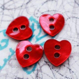 貝ボタン 赤いハート