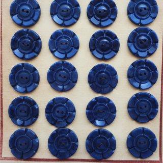 ヴィンテージボタン ネイビー花