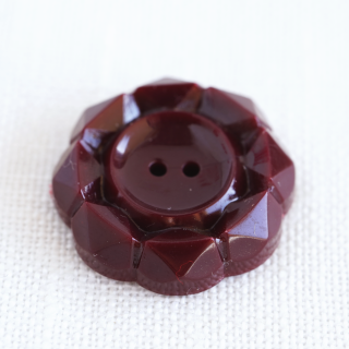 ヴィンテージボタン 花 チョコレート