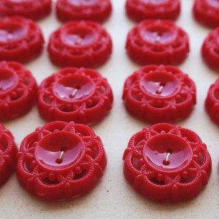ヴィンテージボタン シャンデリア 赤