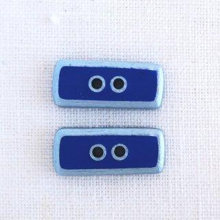 ボタン 長方形 ブルー