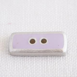 ボタン 長方形 ライラック