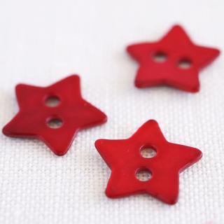 星の貝ボタン 赤