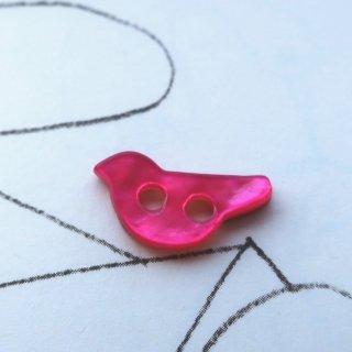 小鳥の貝ボタン ピンク