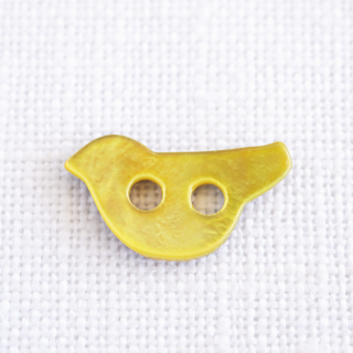 小鳥の貝ボタン 黄色