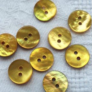 貝ボタン11mm 黄色