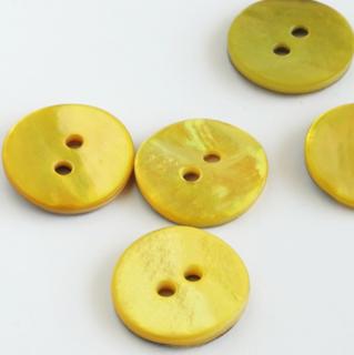 貝ボタン15mm 黄色