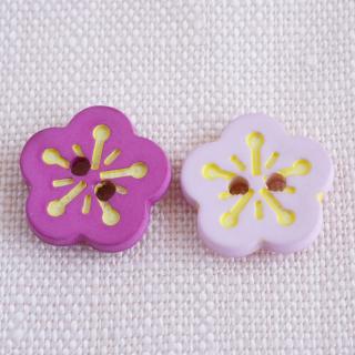 ボタン 桃の花 薄ピンク